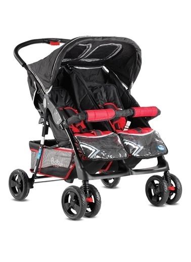 BabyHope İkiz Bebek Arabası Yanyana P-L İkiz Puset Siyah